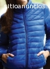 Campera inflable unisex azul