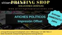 IMPRESIÓN OFFSET AFICHES Y FOLLETOS