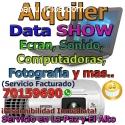 ALQUILER DE DATA SHOW - PROYECTOR