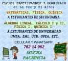 Clases Matemáticas Física Química