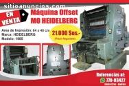 Impresora Offset HEIDELBERG MO Monocolor
