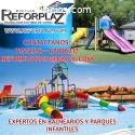 Ofrecemos parques infantiles, acuáticos