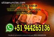 AMARRES DE AMOR TEMPORALES CON FOTO