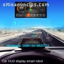 Car hud display smart robot music blueto