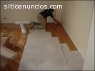 Maestro instalador de piso flotante