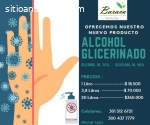 Alcohol glicerinado al 70 y jabón líquid