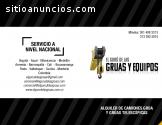 ALQUILER DE GRÚAS, EQUIPOS Y TRANSPORTE