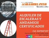 Alquiler escaleras andamios certificados