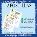 Apostilla/Legalización y traducción