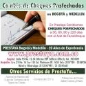 CAMBIO DE CHEQUES POSFECHADOS EN BOGOTA