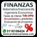 Clases particular Matematica Financiera