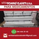 exhibidores almacenamiento medicamentos