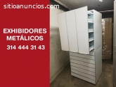 exhibidores metalicos para medicamentos