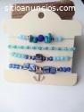 Hemosos sets de pulseras artesanales.