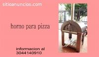 horno de leña para pizzeria