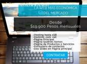PÁGINA WEB MUY ECONÓMICA Desde: $19.990