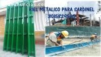 RIEL  METALICO DOBLE CARA     15 X 20 X