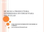 SE BUSCA PRODUCTORA DE CINE