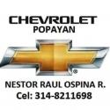 Telefono Chevrolet Popayan Cel:314-82116