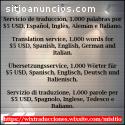 Traducción en idioma, español, inglés, a