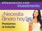 oferta de inversión y de dinero rápido
