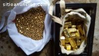 Barras de oro, pepitas de oro y diamante