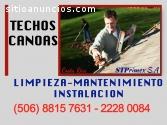 LIMPIEZA DE CANOAS Y TECHOS