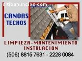 LIMPIEZA Y MANTENIMIENTO DE CANOAS Y TE