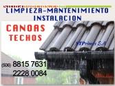 MANTENIMIENTO DE CANOAS Y TECHOS