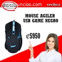MOUSE AGILER AGI-2100 USB GAME NEGRO