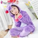 Pijama de Unicornio Violeta Infantil