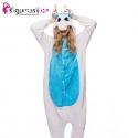 Pijama para adultos de Unicornio blanco