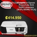 Proyector Epson PowerLite X41+ 3LCD 3600