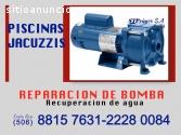 REPARO BOMBA DE PISCINA Y JACUZZI en Cos