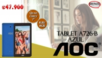 Tablet AOC A726-B/ Quad Core/ 1Gb/ 8 Gb/