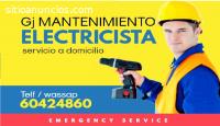 Tecnicó electricista a domicilio