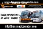 Buses para turismo en Quito - Ecuador.