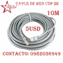 CABLE DE RED UTP RJ45 CAT 5E 10 METROS