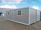 Camper prefabricado, campamento, caseta