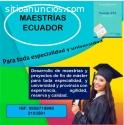 MAESTRÍAS ECUADOR AL INSTANTE