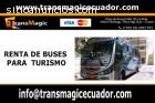 Renta de buses para turismo Quito - Ecua