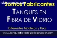 TANQUES DE FIBRA DE VIDRIO.(P.R.F.V.)