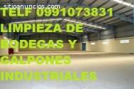 TELF 0983439614 LIMPIEZA DE GALPONES Y B