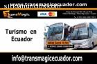 Transporte turistico en Ecuador.