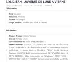 SOLICITO JOVENES DE LUNES A VIERNES