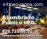 Alumbrado Publico con Postes LED