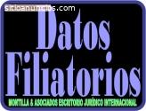 Apostilla datos filiatorios  Venezuela
