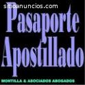 Apostilla o Certificación De Pasaporte