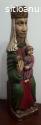 Figura de escayola de virgen con niño