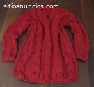 Jersey artesanal rojo talla grande